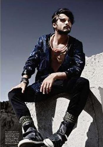 欧美男鞋模特