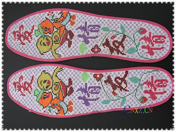阳光丽人绣花鞋垫144( :: ::   144; 绣花鞋垫图案; 假日.