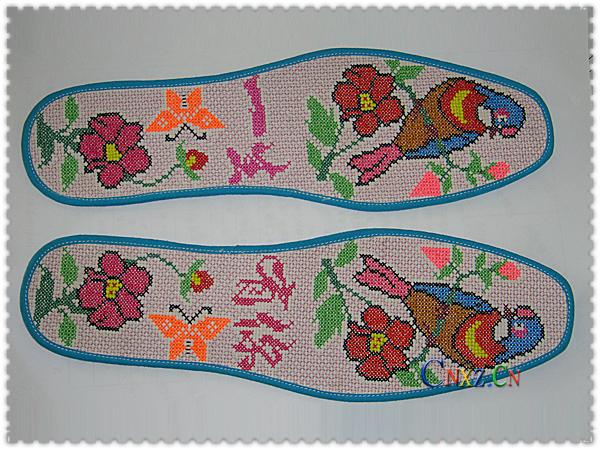 阳光丽人绣花鞋垫