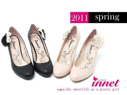 茵奈儿innet2011新款时尚高贵高跟 两穿女单鞋2DR19D