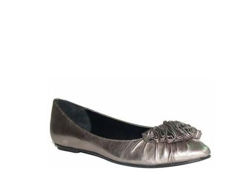 Ryee芮伊简单气质品味舒适纯手工花朵软羊皮尖头平跟鞋单鞋