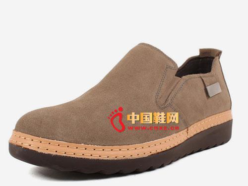 westlink/西遇W0122015牛京皮时尚休闲男士一脚蹬套脚真皮低帮鞋