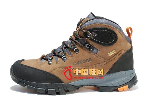 宝驼棕色系带防滑简便时尚男女中邦登山鞋04