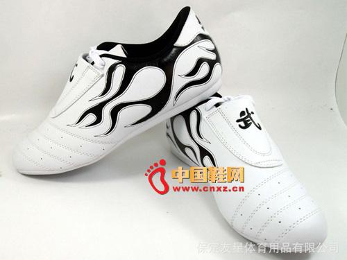 正品尚武社pinetree 新款 白色 热卖 火焰跆拳道鞋02
