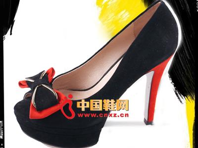 格蕾丝2013春夏季新款时尚防水台蝴蝶结高跟女单鞋