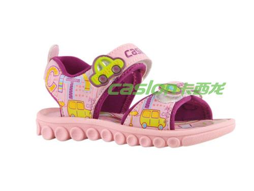 卡西龙2013春夏新款粉色系扣防滑软底舒适女童凉鞋NB223X1827-01