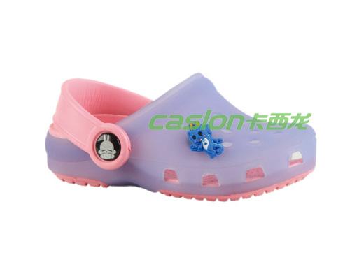卡西龙2013春夏新款淡紫色透气防滑儿童花园鞋NA323X2025-01