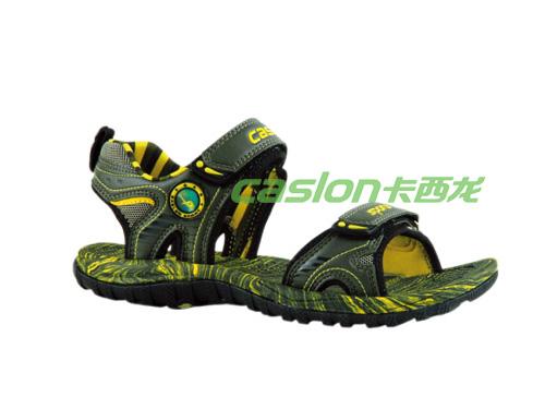 卡西龙2013春夏新款军绿色系扣防滑儿童凉鞋MB223X5882-01