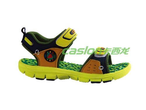 卡西龙2013春夏新款绿色防滑EVA底儿童凉鞋MB213X3861-01