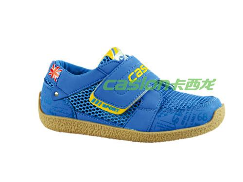 卡西龙童休闲鞋蓝色系扣舒适透气MB123X3723-01