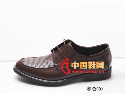 男士 系带/富尔贝妮男士凉鞋2012棕色系带休闲皮鞋22C6255B新款上市
