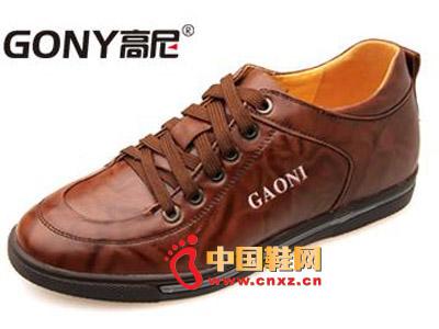 男士 高尼/2012棕色高尼休闲皮鞋,男士时尚系带增高鞋66812503
