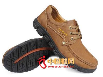 简约 经典/2012jeobow棕色简约经典款休闲皮鞋A7927