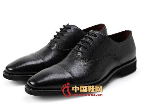 黑色/龙派秋冬新款上市2012黑色时尚系带真皮尊贵正装皮鞋LP122402