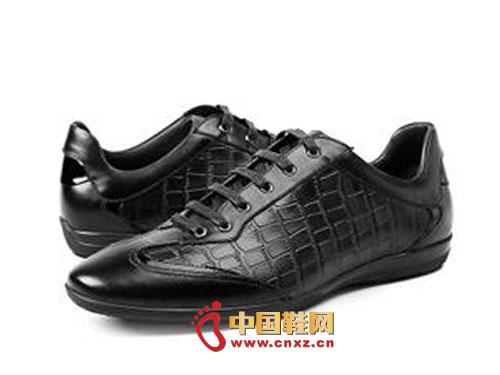 黑色/龙派秋冬新款上市2012黑色时尚系带百搭正装皮鞋LP1222442