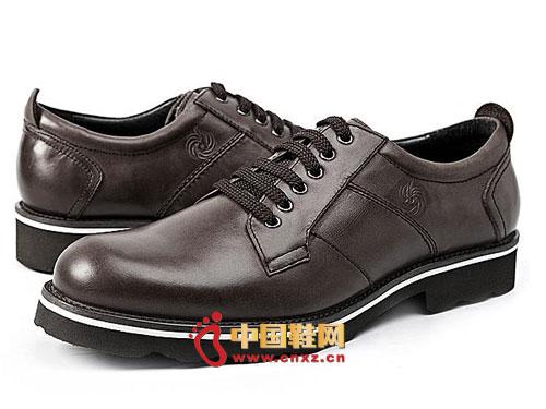 时尚 系带/龙派秋冬新款上市2012咖啡色时尚系带正装商务男鞋LP122032