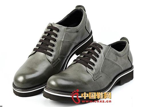 时尚 系带/龙派秋冬新款上市2012灰色时尚系带正装商务男鞋LP122032