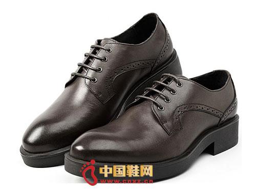 时尚 系带/龙派秋冬新款上市2012咖啡色时尚系带优质小牛皮男鞋LP122062
