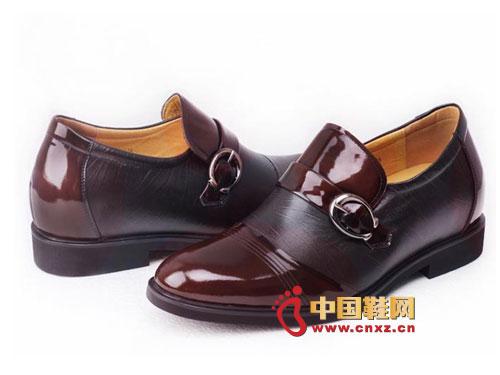 狄高/2012新款上市梵狄高棕色时尚系带内增高休闲皮鞋fdg246