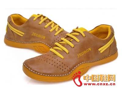 新款 皮鞋/2012jeobow新款棕色时尚休闲皮鞋