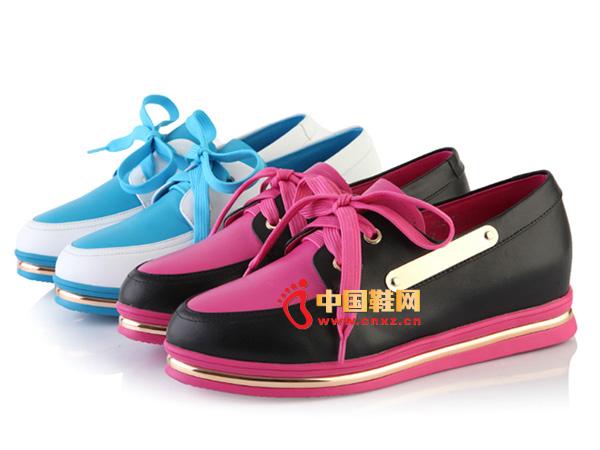 沃格时尚系带舒适唯美女鞋美女休闲鞋365_沃星空女士图片
