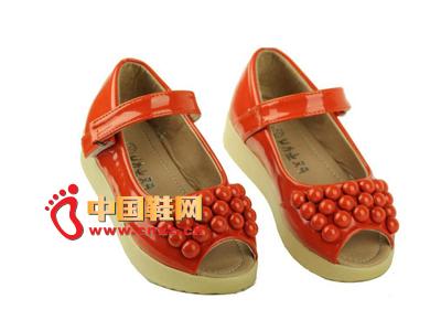 【爆破】2012春夏新款韩版女个性童鞋鱼嘴鞋供应粗孔海绵图片