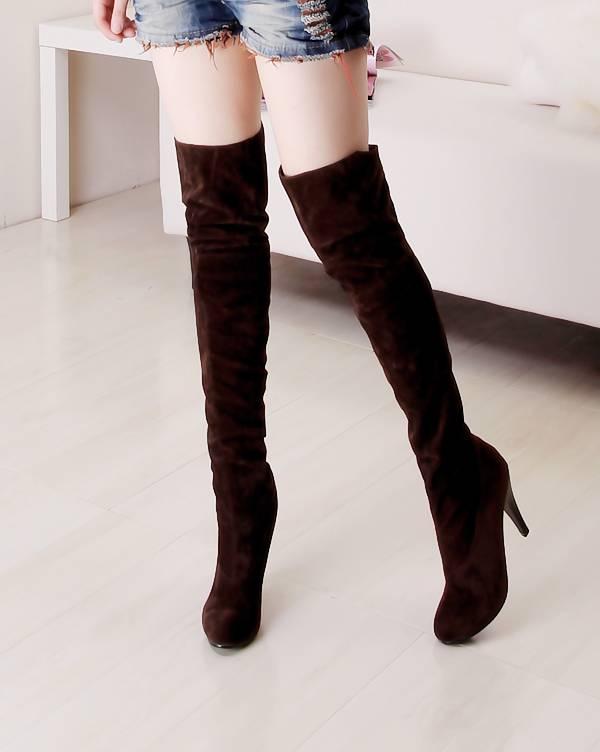 精品两穿高跟长筒过膝女靴子