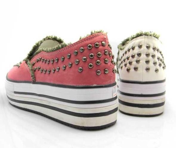 女鞋批发 帆布鞋批发 双层高底