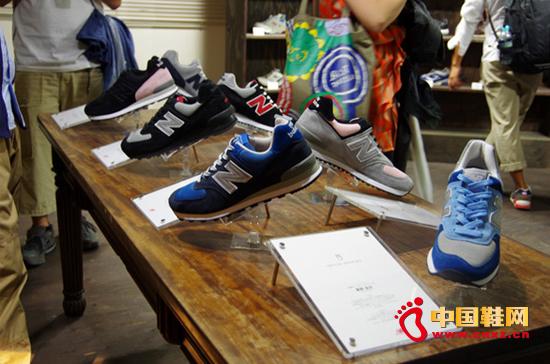 运动鞋品牌new+balance在东京举办展览