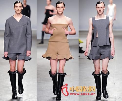 男穿女裤头-时尚界新潮流 男人逆袭穿女装