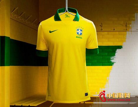 耐克品牌发布巴西队2013主场新款球衣图片